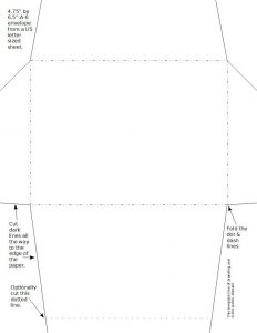 Letter Size Envelope Template - 4 X 6 Envelope Template Bar 4 3 4 X 6 1 2
