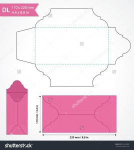 Letter Size Envelope Template - Envelope Design Template Ai New Die Cut Vector Envelope Template