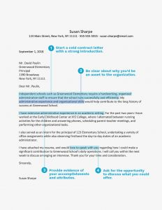 Letter Template for Window Envelope - Cold Contact Cover Letter Examples and Tips