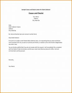 Letter to Creditors Template - Creditor Cease and Desist Letter Template Examples