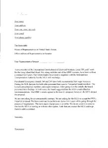 Letter to Legislator Template - Rent to Own Proposal Letter Template Examples