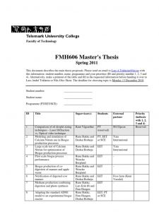 Letter to Next Year's Students Template - Fmh606 Master Prcent 26 Prcent Prcent 3bs thesis 2011
