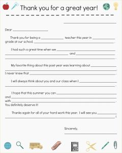 Letter to Parents From Teacher Template - Letters to Parents From Teachers Templates
