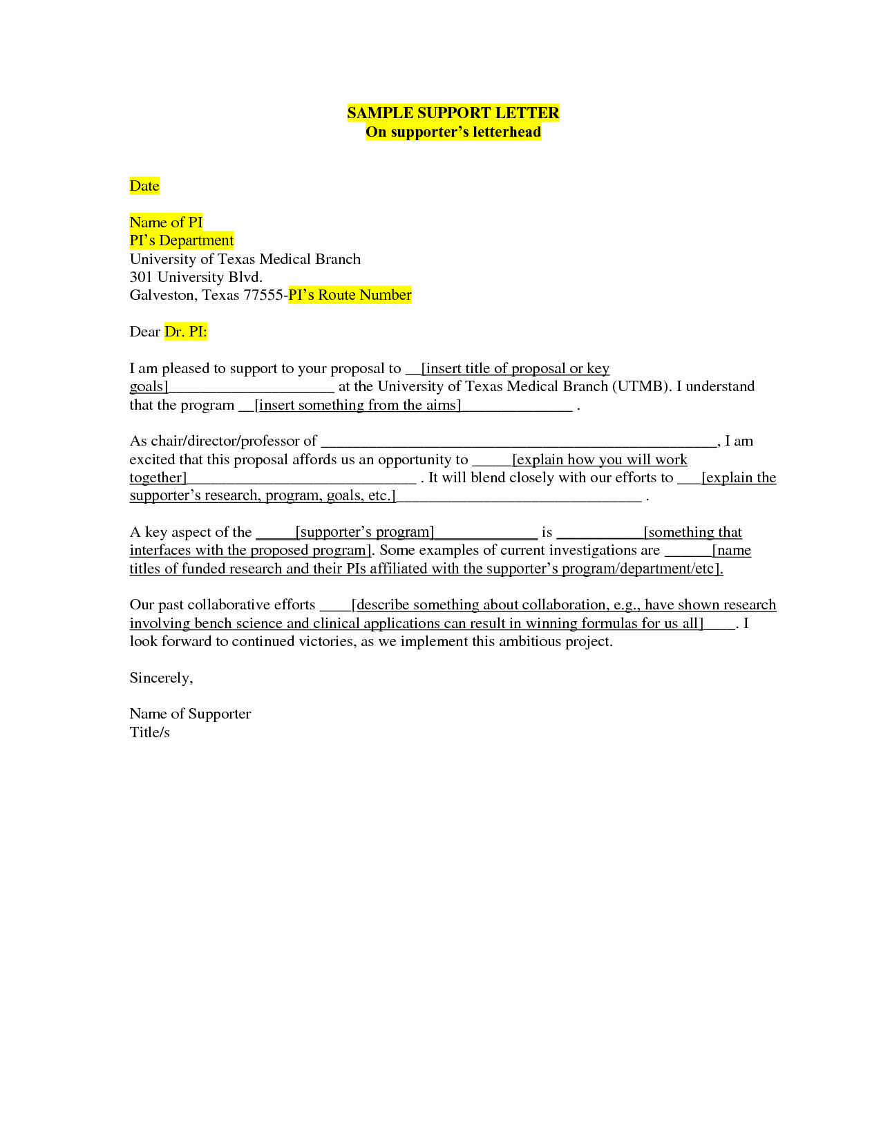 19 Letter to Parole Board Template Samples   Letter Templates