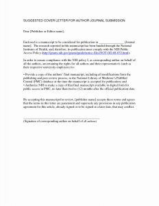 Letter to the Editor Template - Letterhead format Sample Best 40 Inspirational Cover Letter Journal