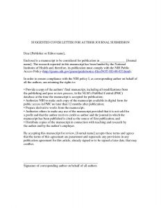 Letter to the Editor Template for Students - Cover Letter Template Journal Cover Letter Template