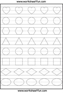 Letter Tracing Template - Shape Tracing Math Pinterest