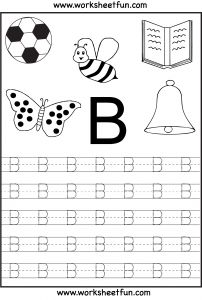 Letter Tracing Template - Free Printable Letter Tracing Worksheets for Kindergarten – 26