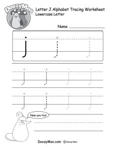 Letter Tracing Template - Letter J Tracing Worksheets Zoroeostories