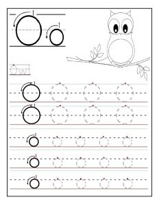 Letter Tracing Template - Letter O Worksheets for Preschool