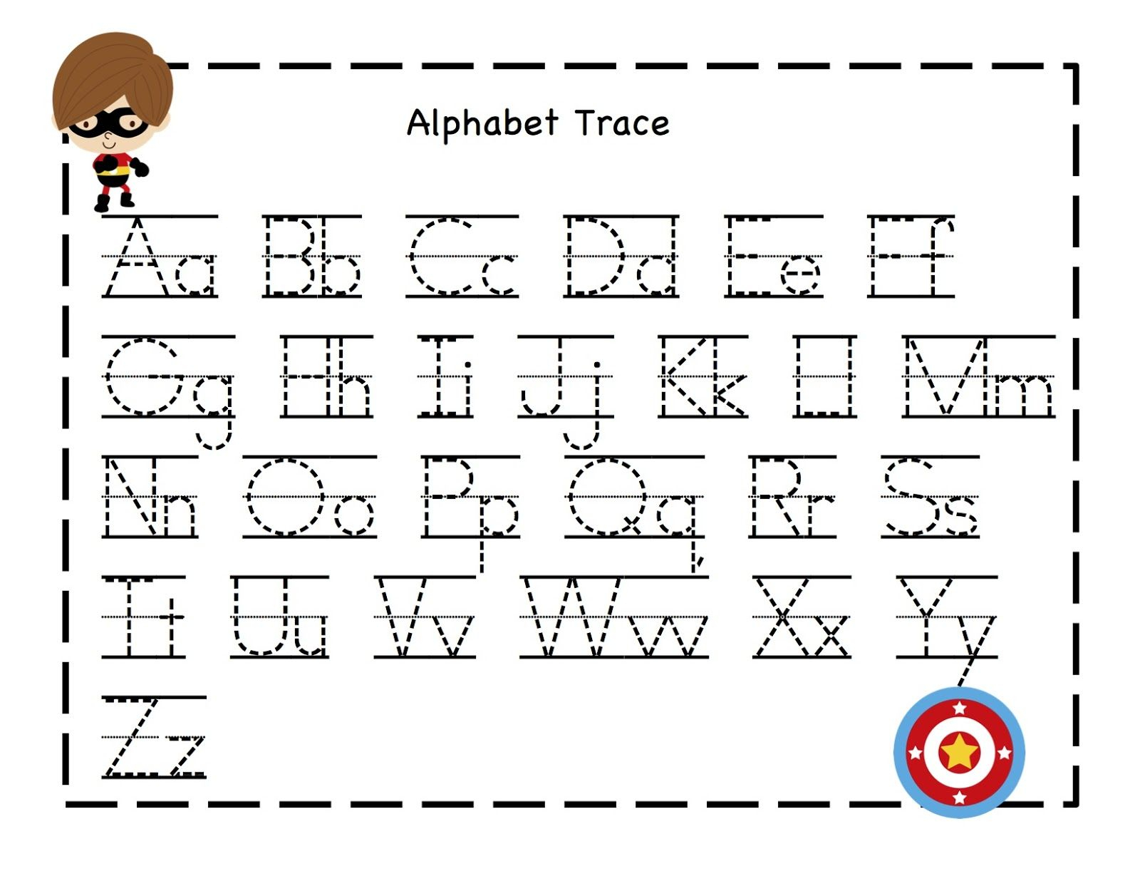 letter tracing template example-Preschool Printables abet tracing sheet from owensfamily gwyn 8-r