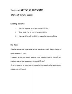 Letter Writing Template - Writing A Business Letter