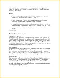 Liquidated Damages Letter Template - Settlement Agreement Letter Template Gallery