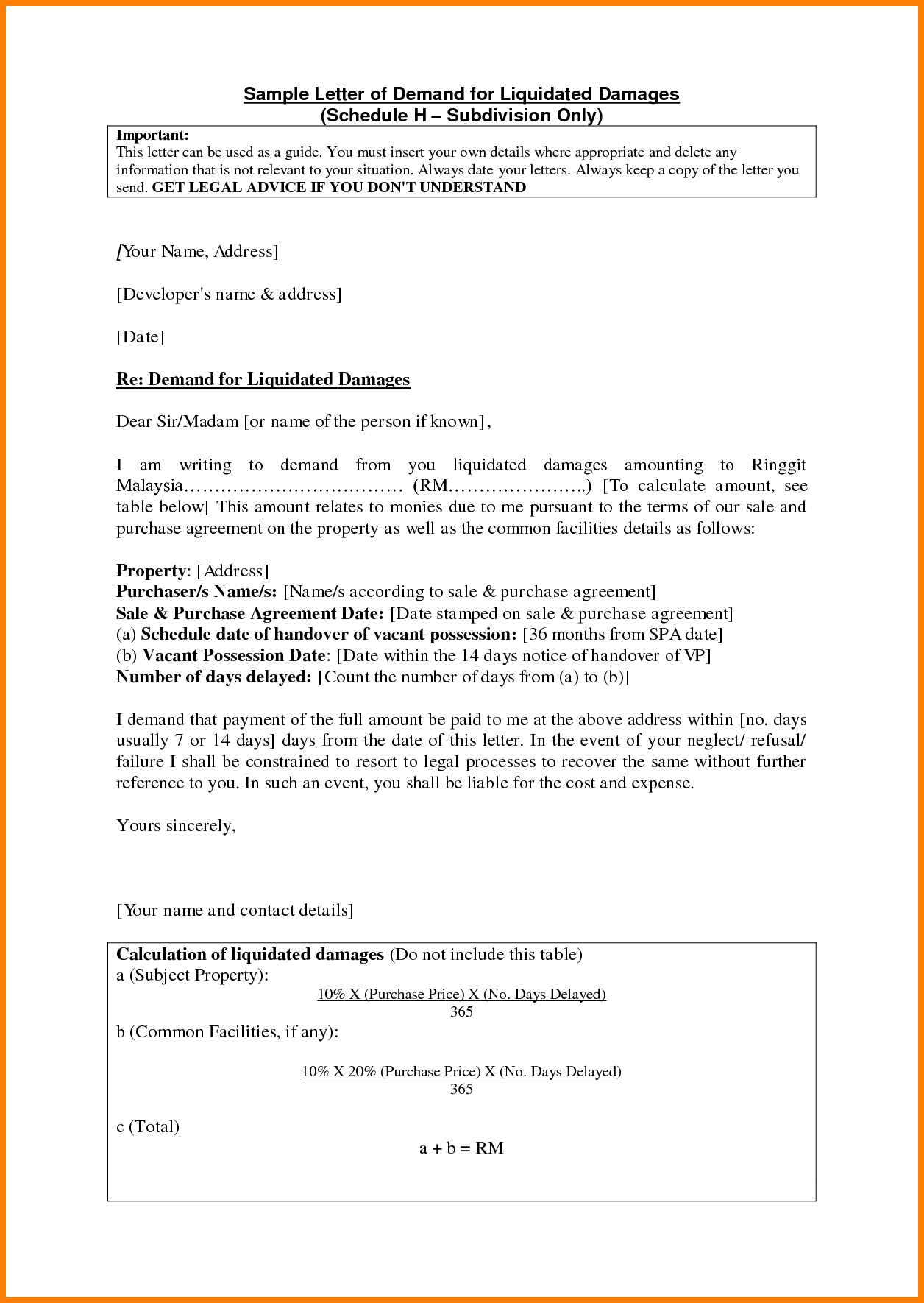 liquidated damages letter template example-letter sample claim salary email authorization united airlines plaint resolved 11-k