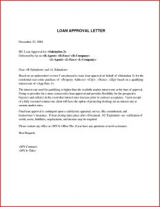 Loan Approval Letter Template - Mortgage Approval Letter Template Gallery