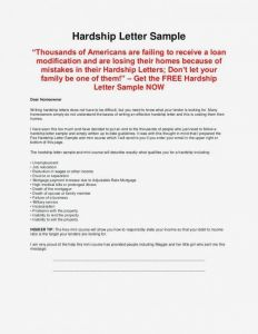 Loan Modification Hardship Letter Template - Loan Modification Hardship Letter Templates New Financial Hardship