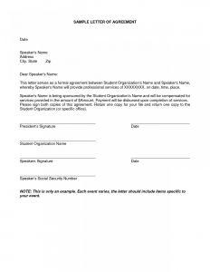 Loan Repayment Letter Template - Sample Loan Repayment Agreement – Letter Templates Free