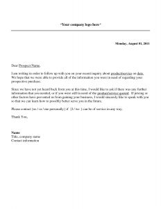 Long form Sales Letter Template - Follow Up Sales Letter A Potential Sales Prospect Has Many