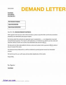Lost Wages Letter From Employer Template - Business Demand Letter Template Samples