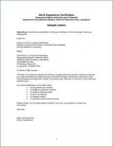 Lost Wages Letter From Employer Template - Employment Verification Letter Template Pdf Samples