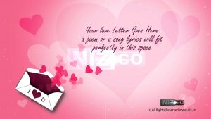 Love Letter Background Template - Video Love Letter Template for Valentine S Day Royalty Free