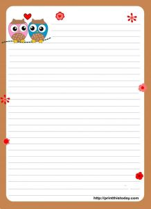 Love Letter Background Template - Awesome Blank Love Letter Template