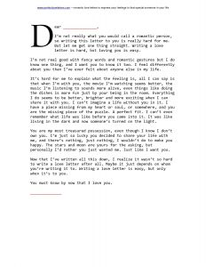 Love Letter Template - Love Letter HTML Template Inspirationa Love Letter format for