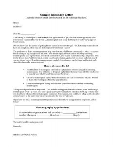Mammogram Reminder Letter Template - Donation Reminder Letter Template Examples
