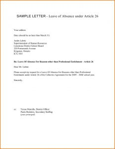 Maternity Leave Letter Template - Maternity Leave Letter Template Nz