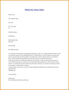 Maternity Leave Letter Template - Pregnancy Letter From Doctor Template Samples