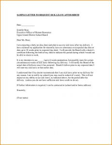 Maternity Leave Letter Template - Maternity Return to Work Letter From Employer Template Best