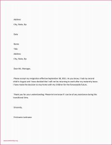 Maternity Leave Letter Template - Medical Leave Letters Examples Leave Absence Letter Sample Lovely