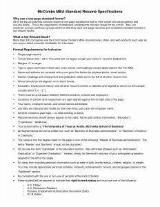 Mccombs Cover Letter Template - 20 Beautiful Graph Mc Bs Business School Resume Template