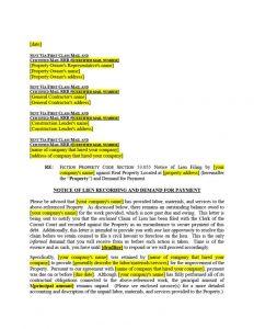 Mechanics Lien Letter Template - 5 Unique Eviction Notice Colorado Template Concepts