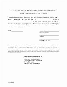 Mechanics Lien Letter Template - forms California Mechanics Lien Release Letter Unique formidable