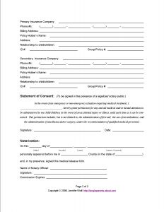 Medical Consent Letter for Grandparents Template - Do You Have A Medical Release form for Your Kids
