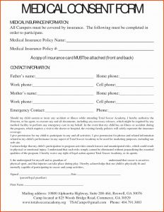 Medical Consent Letter for Grandparents Template - Medical Consent Letter for Grandparents Template Collection