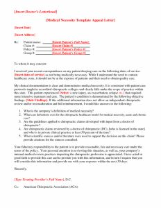 Medical Necessity Appeal Letter Template - Aetna Medicare Appeal Letter