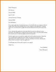 Medical Necessity Appeal Letter Template - Proof Health Insurance Letter Template 2018 Professional Appeal