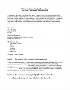 Medical Necessity Appeal Letter Template - Pin by Joanna Keysa On Free Tamplate Pinterest