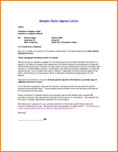 Medical Necessity Appeal Letter Template - Medical Claim Appeal Letter Template Examples