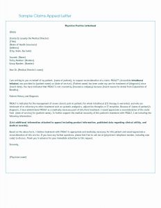 Medical Necessity Appeal Letter Template - Proof Health Insurance Letter Template Reference Letter format
