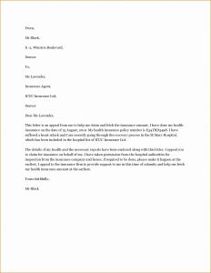 Medical Necessity Appeal Letter Template - Proof Health Insurance Letter Template 2018 Sample Proof Health