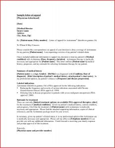 Medical Necessity Appeal Letter Template - Appeal Template Letter Downloadable Utar Appeal Letter format New