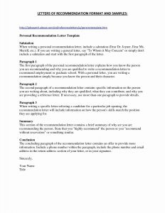 Medical School Letter Of Recommendation Template - Academic Letter Re Mendation Template Valid Medical Fitness