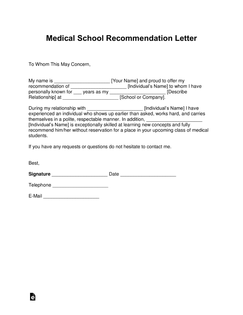 medical school letter of recommendation template example-Sample 3 1-k