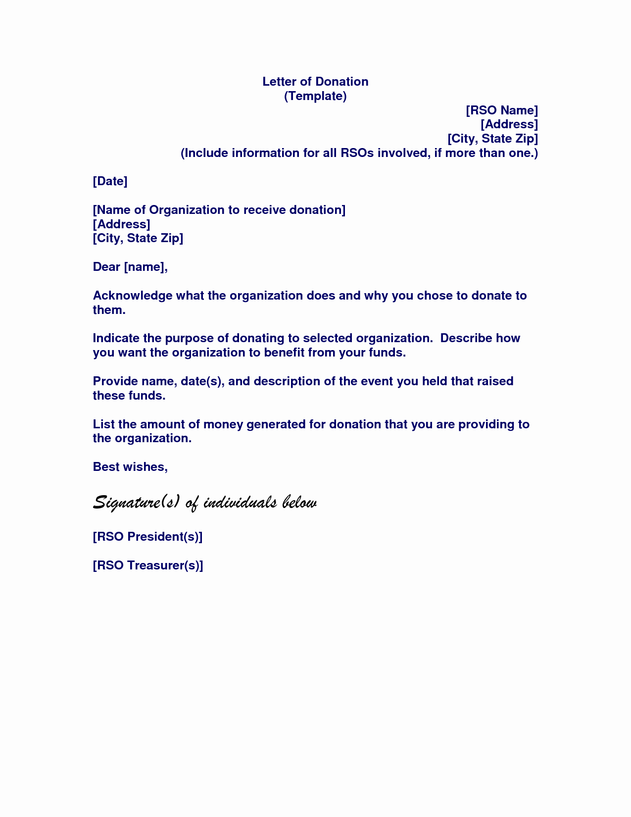 memorial donation letter template Collection-memorial donation letter template 11-h