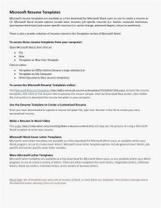 Microsoft Word Letter Of Resignation Template - Cover Letter Template Microsoft Word Save 30 Letter Template Word