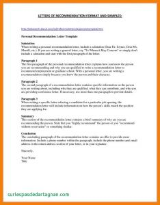 Military Letter Of Recommendation Template - Personal Re Mendation Letter Template Free Samples