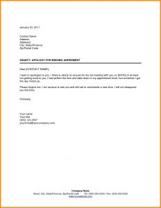 Missed Appointment Letter Template - Patient Missed Appointment Letter Template Examples